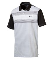 Puma Golf Mens Highlight Stripe Polo Shirt