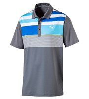 Puma Golf Mens Road Map Asym Polo Shirt