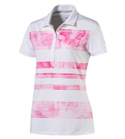 Puma Golf Ladies Bloom Stripe Polo Shirt