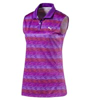 Puma Golf Ladies Road Map Sleeveless Polo Shirt