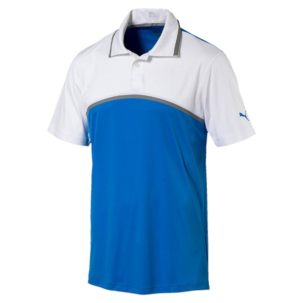 Puma  Mens Tailored ColourBlock Polo Shirt