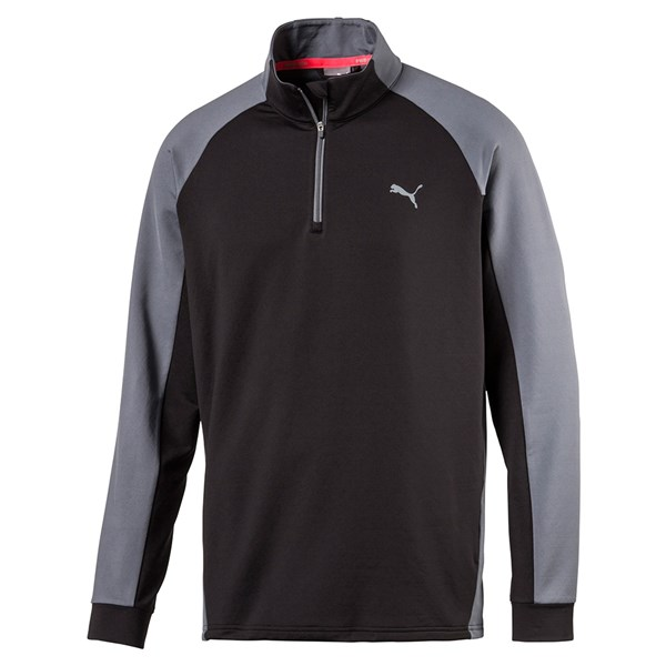Puma Mens PWRWARM Colourblock Quarter Zip Pullover