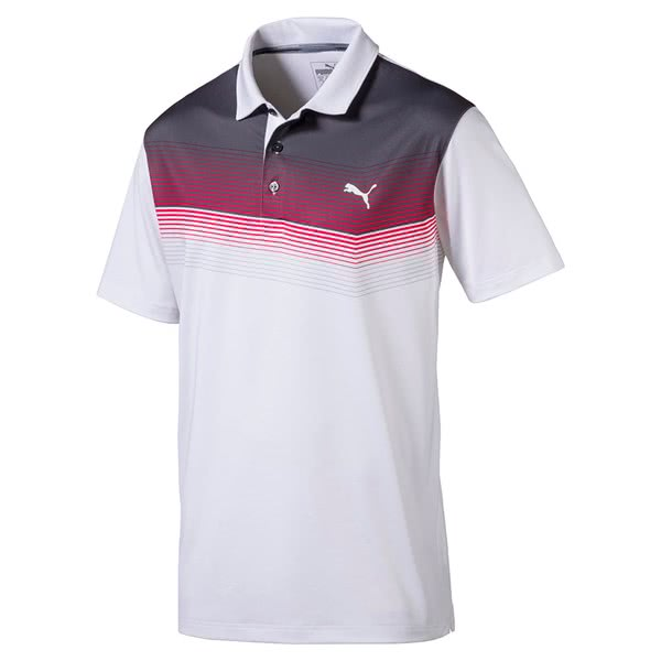 9c28d40bc772 Puma Mens Road Map Polo Shirt - Golfonline