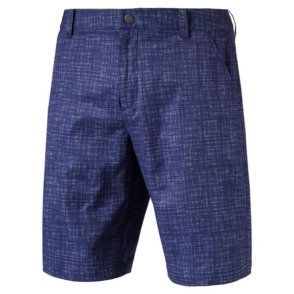 Puma Mens PWRCOOL Mesh Plaid Shorts