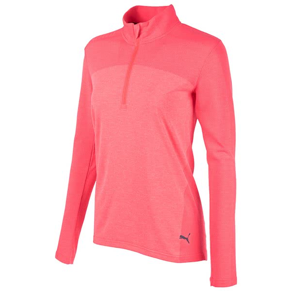 Puma Ladies Evoknit Seamless Quarter Zip Pullover