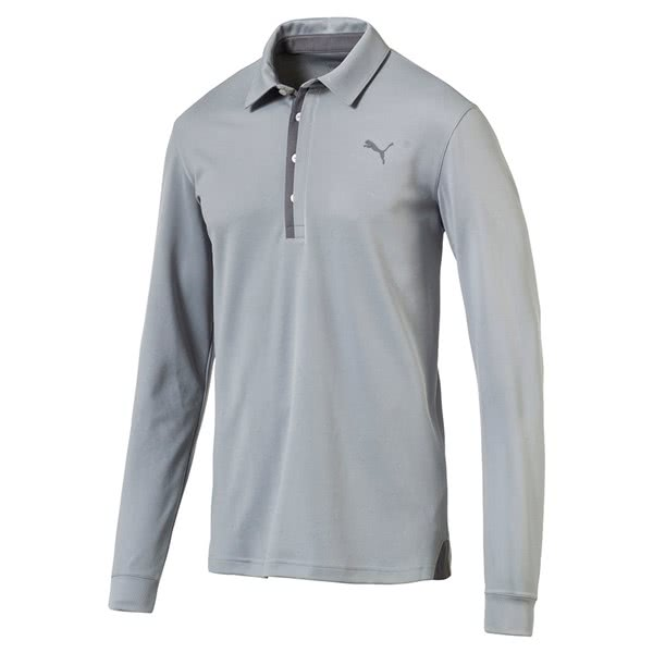 Puma Mens Tailored Long Sleeve Polo Shirt