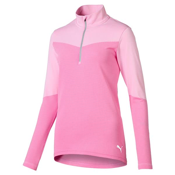 Puma Ladies 3D Knit Quarter Zip Pullover