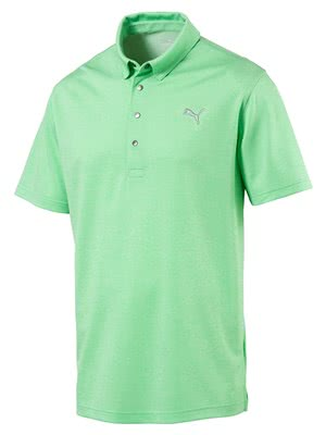 1b189e02cde1 Puma Mens Grill To Green Polo Shirt