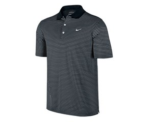 Nike Mens Victory Striped Polo Shirt  Logo On Chest