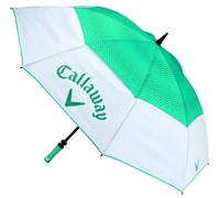 Callaway Ladies 60 Inch Uptown Double Canopy Umbrella (White/Teal)