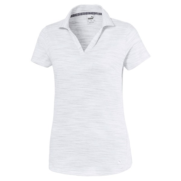 Puma Ladies Heather Slub Polo Shirt
