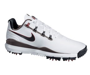 Nike Mens TW 14 Golf Shoes  White/Metallic Grey