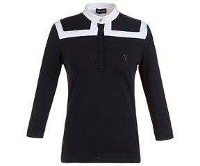Golfino Ladies 3/4 Sleeve Mock Neck Shirt