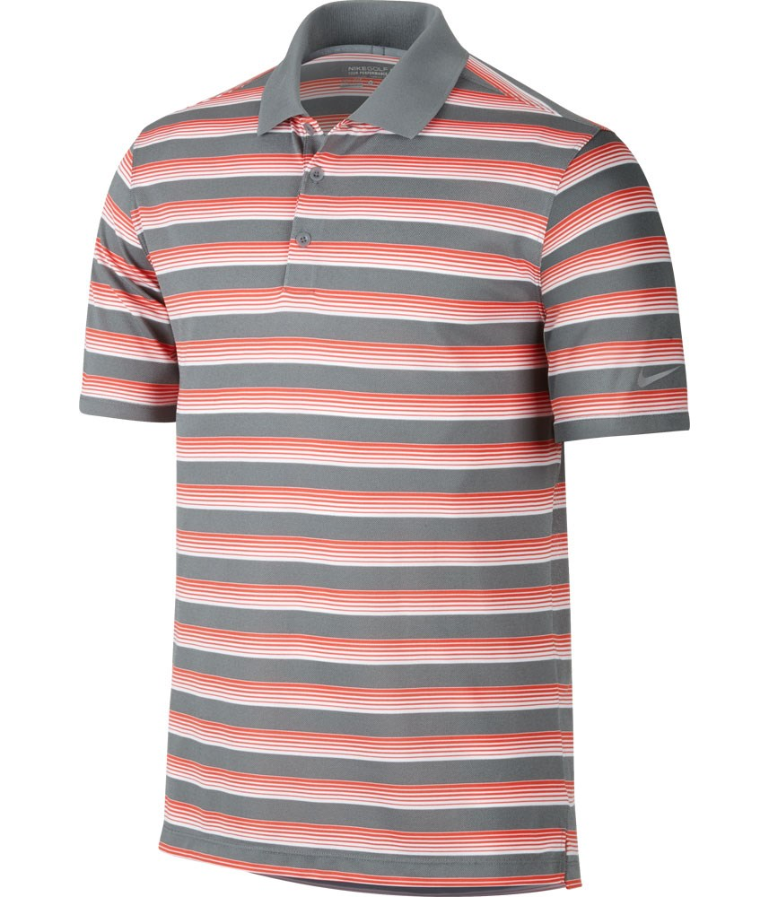 nike mens tech vent stripe polo shirt golfonline