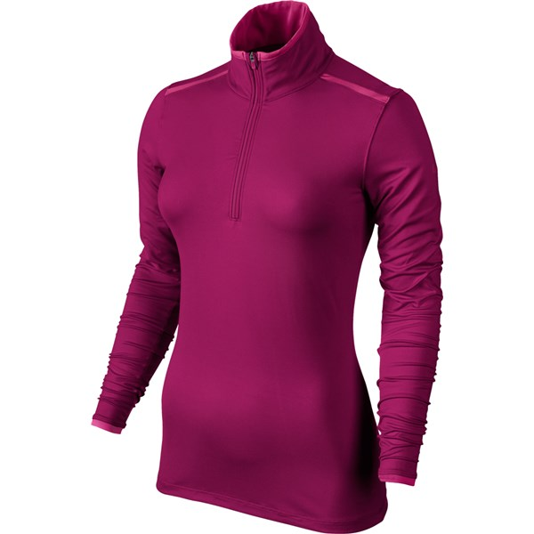 Nike Ladies Lucky Azalea Mesh Half Zip Top