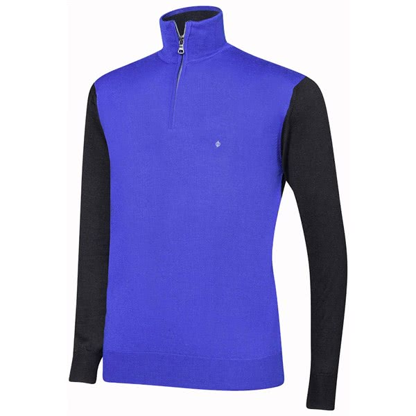 Oscar Jacobson Mens Jerome Pin Half Zip Pullover