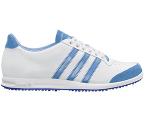 Adidas Ladies Adicross Street Shoes  White/Light Blue