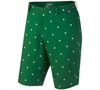 Nike Mens Print Woven Golf Shorts (Green/White)