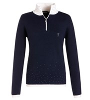 Golfino Ladies Knitted Troyer with Crystals