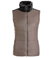 Golfino Ladies Waistcoat with Faux Fur Collar