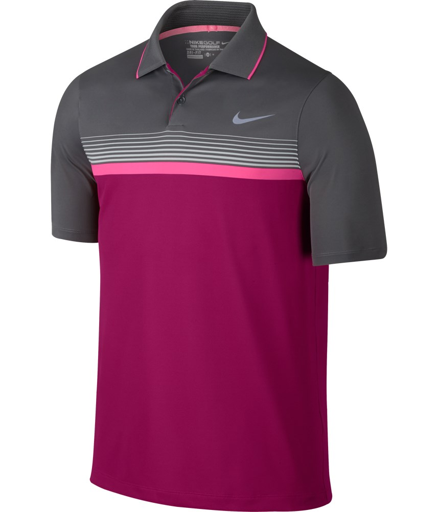 Nike mens modern fit momentum stripe polo shirt golfonline Modern fit golf shirt