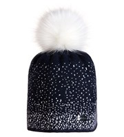 Golfino Ladies Knitted Hat with Fur PomPom