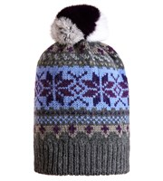 Golfino Ladies Jacquard Hat with Pom Pom