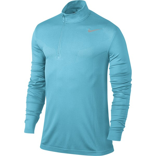 Nike Mens Dry Knit Half Zip Long Sleeve Golf Top