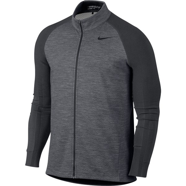Nike Mens Sweater Tech Full-Zip Golf Top
