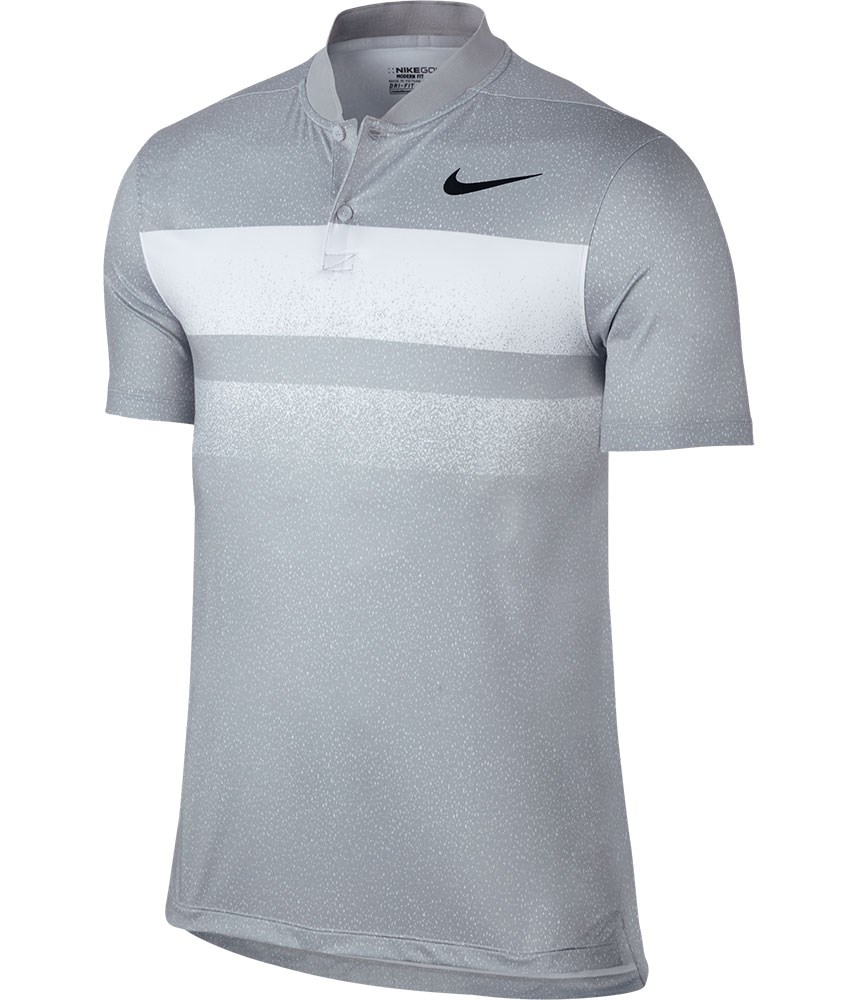Nike mens modern fit transition dry fade polo shirt for Modern fit golf shirt