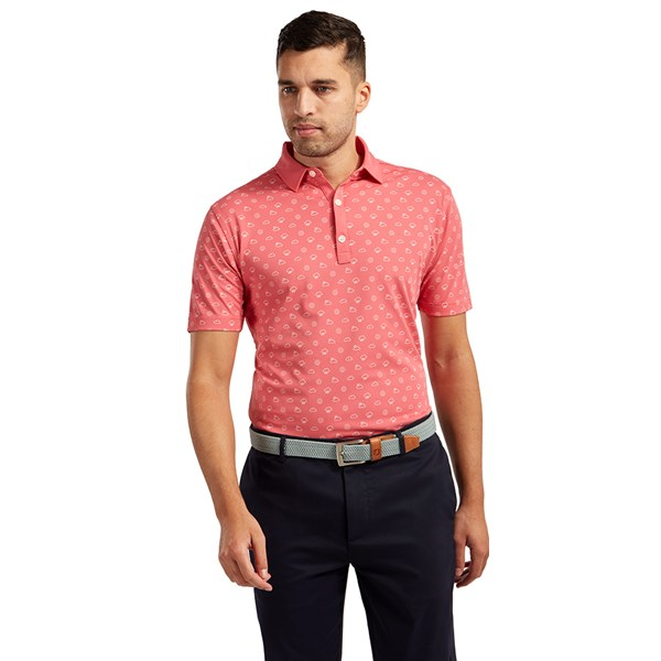 FootJoy Mens Smooth Pique Weather Print Polo Shirt