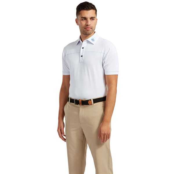 FootJoy Mens Solid Pique with Spine Stitch Polo Shirt