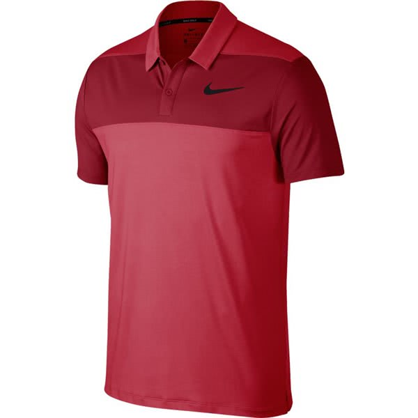 Nike Mens Dry Block Panel Golf Polo 2018