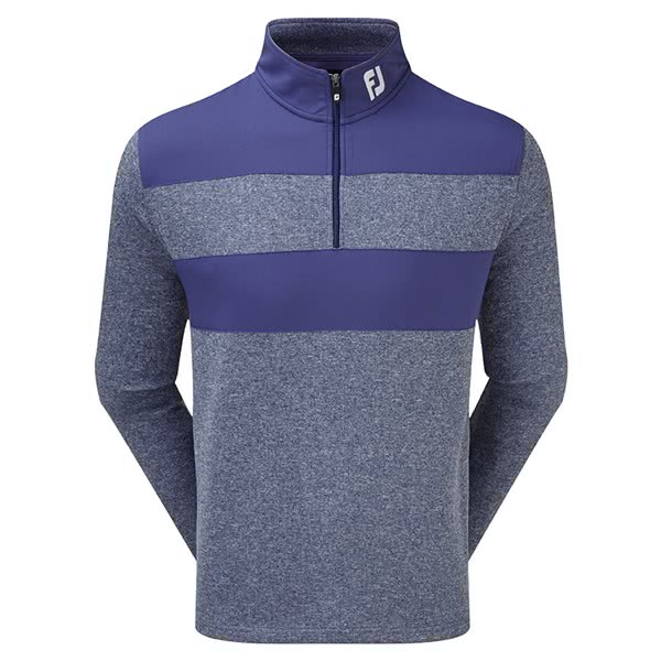 FootJoy Mens Flat Back Rib Woven Chill-Out Pullover