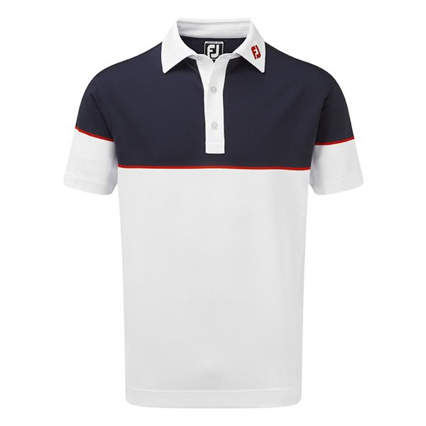 FootJoy Mens Colour Block Stretch Pique Polo Shirt 2019