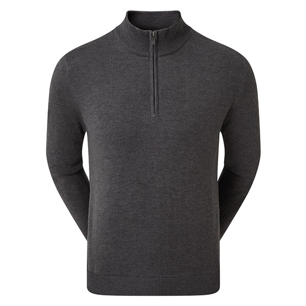 FootJoy Mens Wool Blend Half Zip Lined Pullover