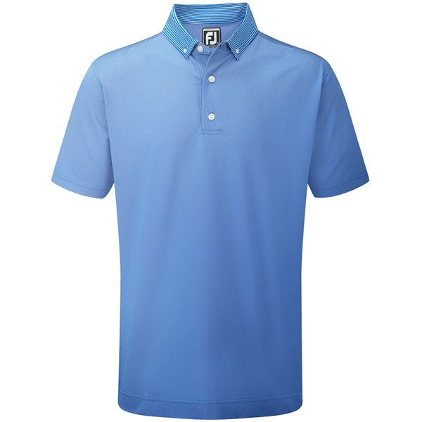 Footjoy Birdseye Jacquard With Striped Button Down Collar