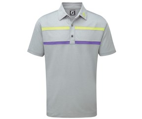 FootJoy Mens Stretch Pique Pieced Chest Stripe Berkeley Collection Polo Shirt
