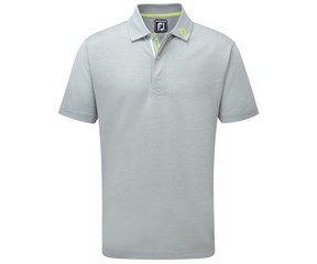 FootJoy Mens Stretch Pique Ribbon Placket Berkeley Collection Polo Shirt