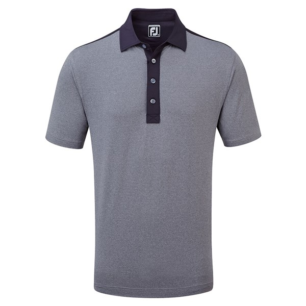 FootJoy Mens Heather Lisle with Solid Lisle Polo Shirt