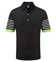 FootJoy Mens Smooth Pique with Sleeve Stripes Polo Shirt