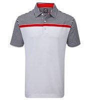 FootJoy Mens Engineered Stripe Lisle Polo Shirt