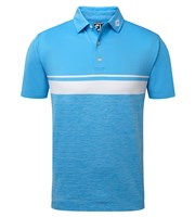 FootJoy Mens Stretch Lisle Colour Block with Space Dye Polo Shirt