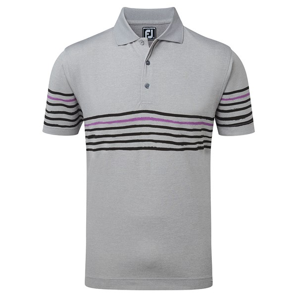 FootJoy Mens Stretch Pique with Painted Stripes Polo Shirt