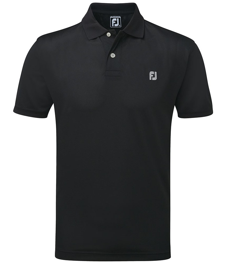 Footjoy mens stretch pique with fj chest logo polo shirt for Footjoy shirts with titleist logo
