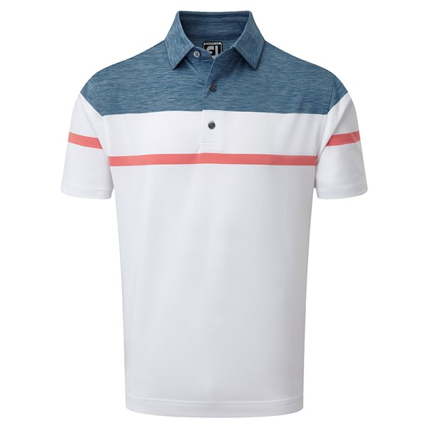 FootJoy Mens Stretch Lisle with Spacedye Yoke Polo Shirt