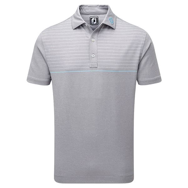 FootJoy Mens Lisle Engineered Pinstripe Polo Shirt