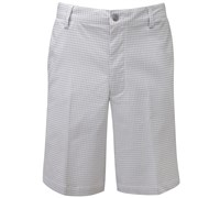 FootJoy Mens Seersucker Golf Shorts (Silver/White)