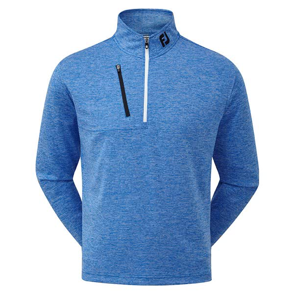 FootJoy Mens Heather Pinstripe Chill-Out Pullover