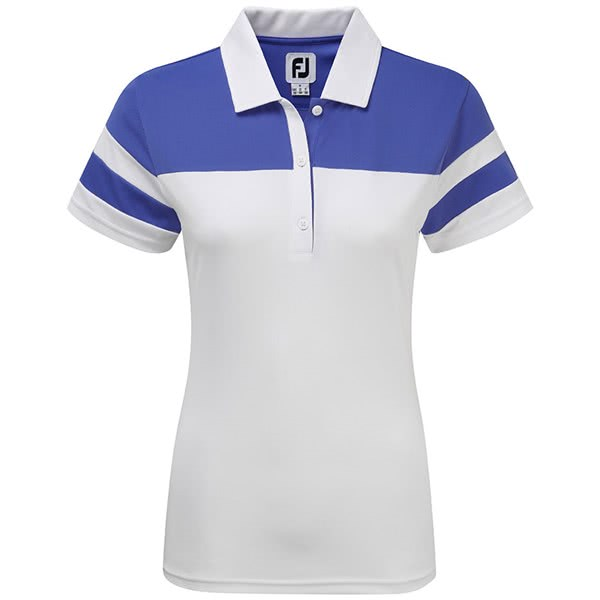 FootJoy Ladies Smooth Pique Colour Block Polo Shirt